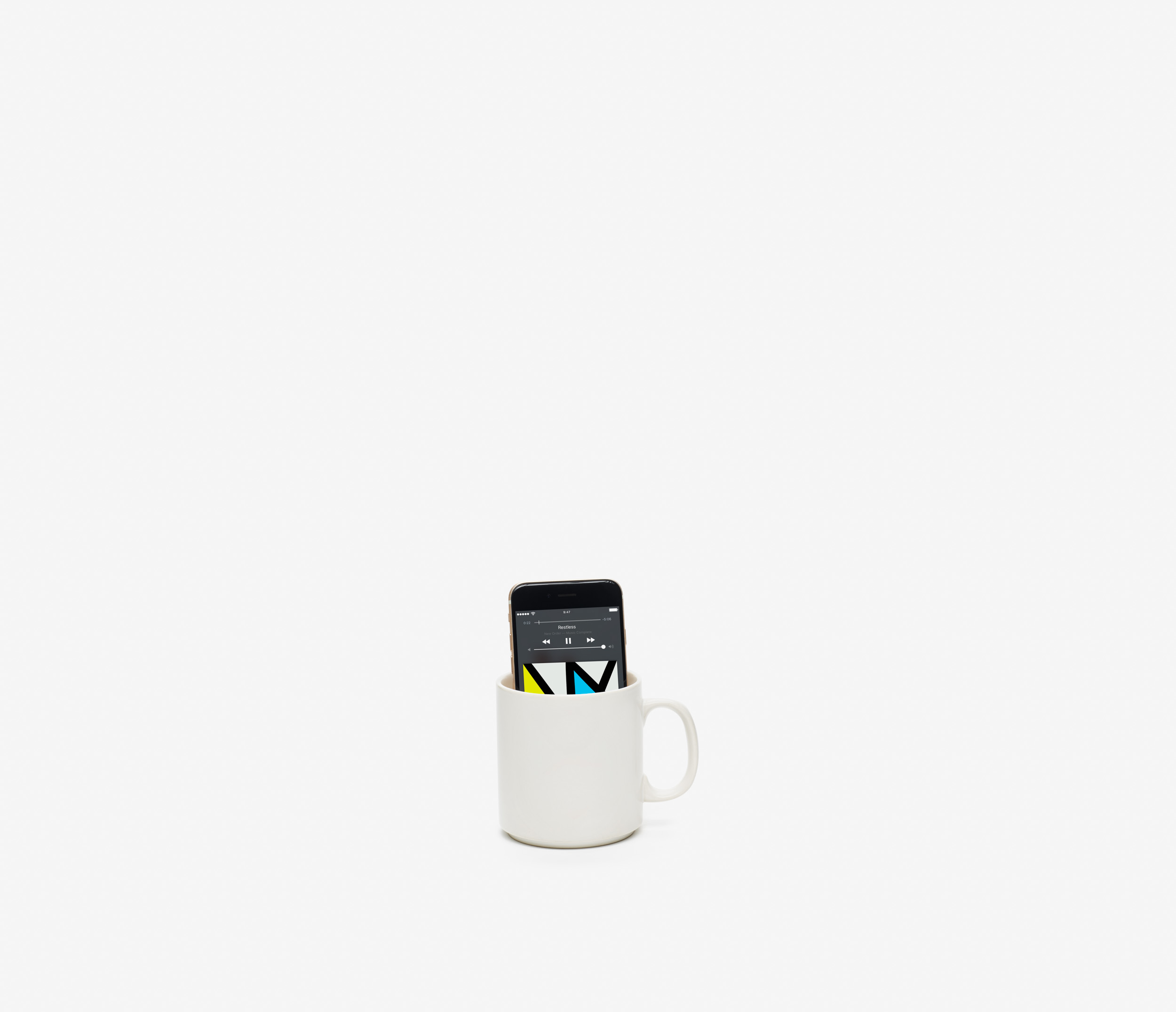 """Listening Fail #14 """"Mug o' Bass"""" Sonos delivers a pure sonic punch––high, low and in-between. No cup required. David Naugle   R&D Studios Inc"""